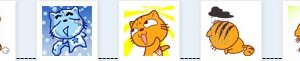 Emoticones del gato estrella